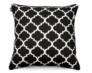 Decorative pillow Clover Black White 60x60 cm
