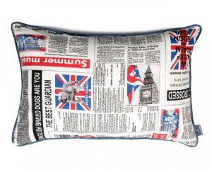 Decorative pillow  Newspaper 40x60 cm