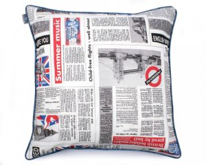 Decorative pillow  Newspaper 60x60 cm
