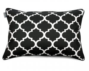 Decorative pillow Clover Black White 40x60 cm