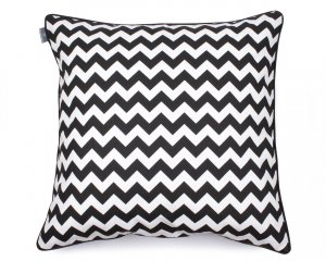 Decorative pillow  Zig Zag Black White 60x60 cm