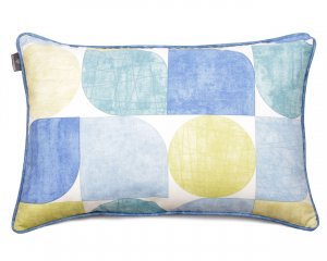 Decorative pillow Circles Blue And Green 40x60 cm