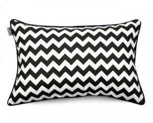 Decorative pillow  Zig Zag Black White  40x60 cm